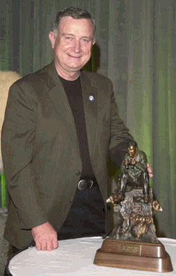 2004  Award winner, Mike Simpson, with his trophy